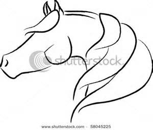 300x255 Horse Head Outline Drawings