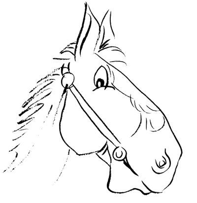 400x412 How To Draw Cartoon Horse Head Face With Easy Step By Step