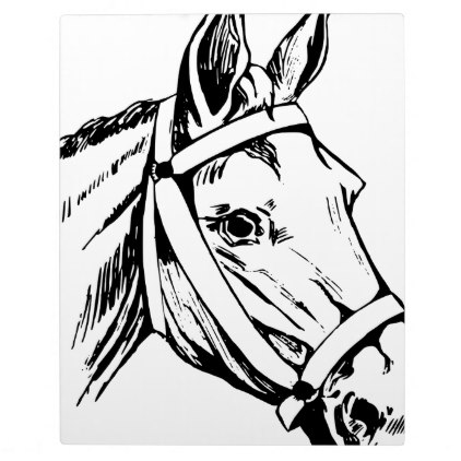 422x422 Horse Drawing Head Plaque