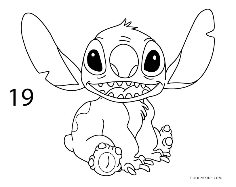 820x650 How To Draw Stitch (Step By Step Pictures) Cool2bkids