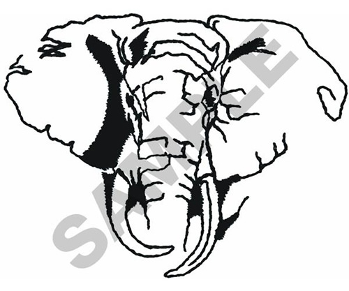 500x417 Elephant Head Outline Embroidery Design From Great Notions Grand