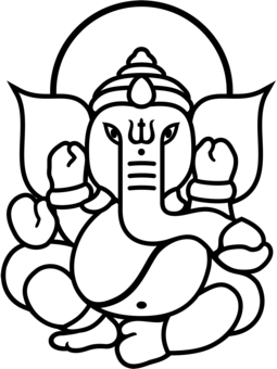 255x340 Ganesh Face Outline Drawing Ganesh Face Outline Ganesh Dibujo