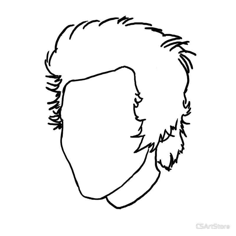 800x800 Harry Styles Outline Drawing Art Prints By Csartstore Redbubble