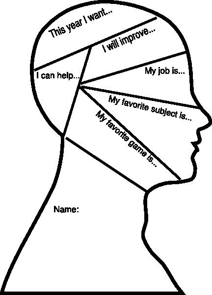432x599 Head Outline Goal Setting Clip Art