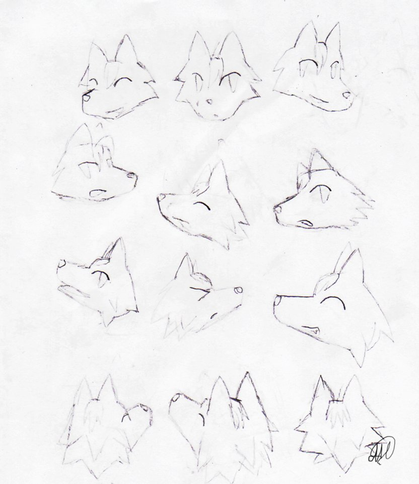 Head Positions Drawing