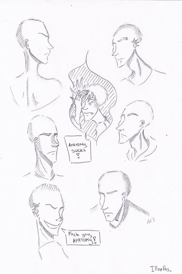 728x1098 Anatomy. Head Positions. By Illnaths