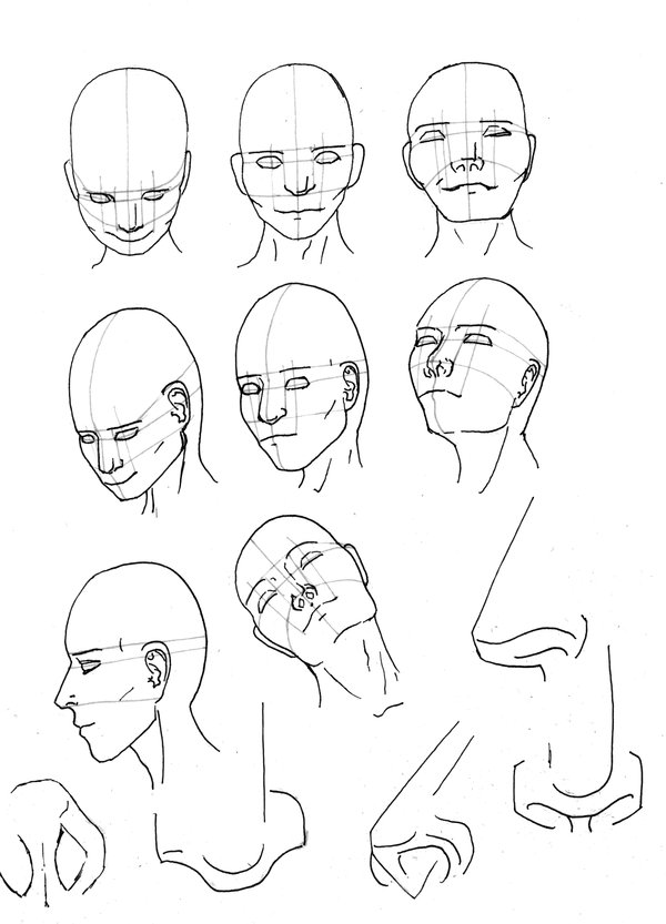 600x833 Human Head By Patientnr1043