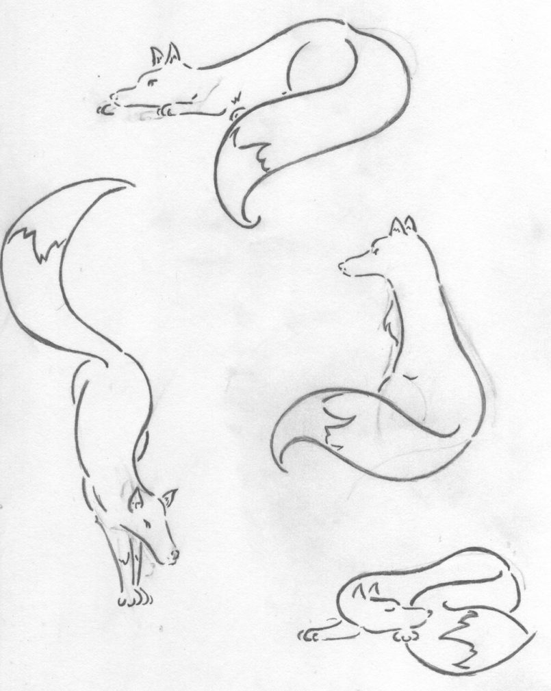 805x1009 Drawing Simple Arctic Fox Drawing Also Simple Fox Head Drawing
