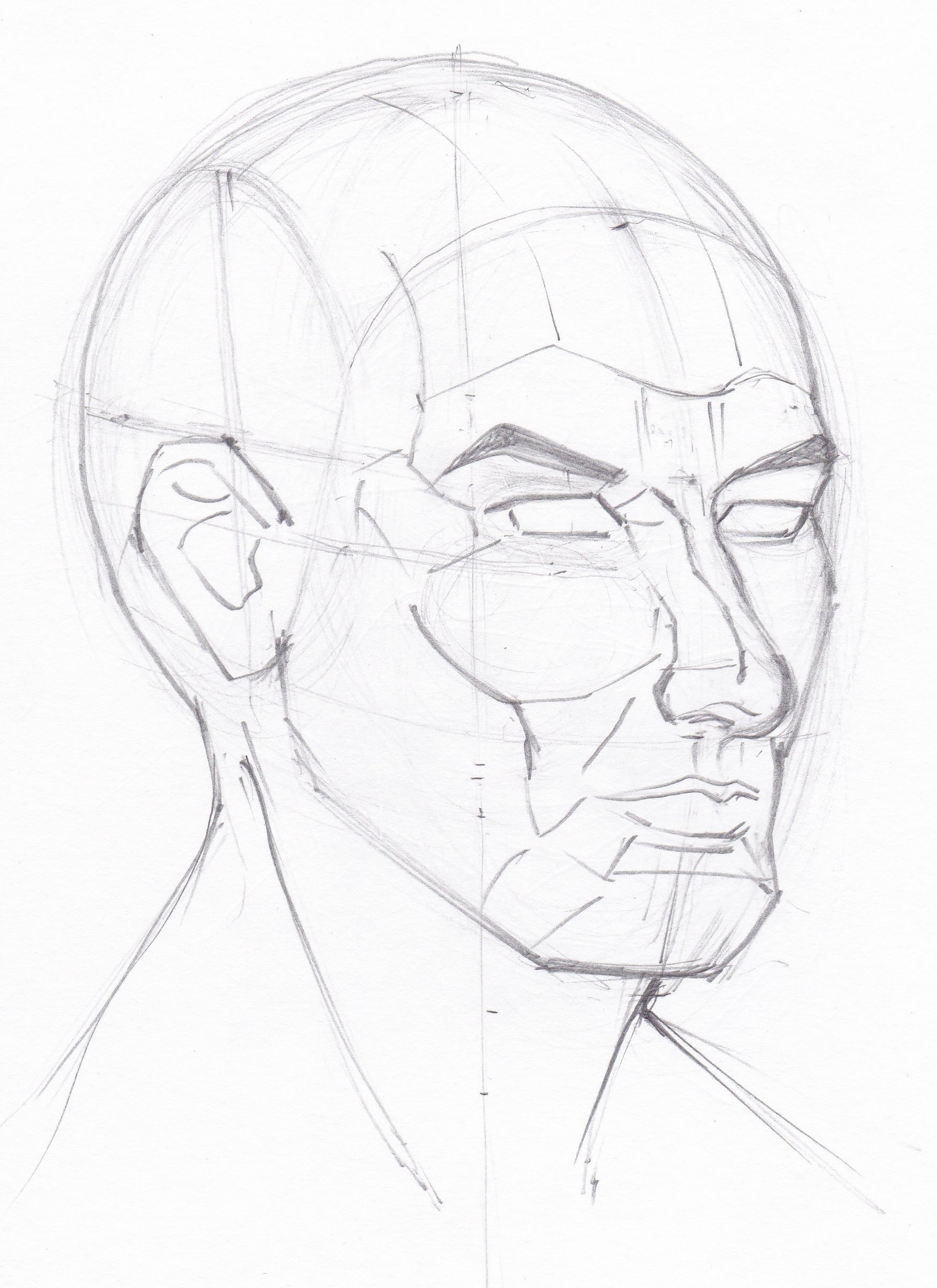 1764x2424 Face Structure Drawing Sketch
