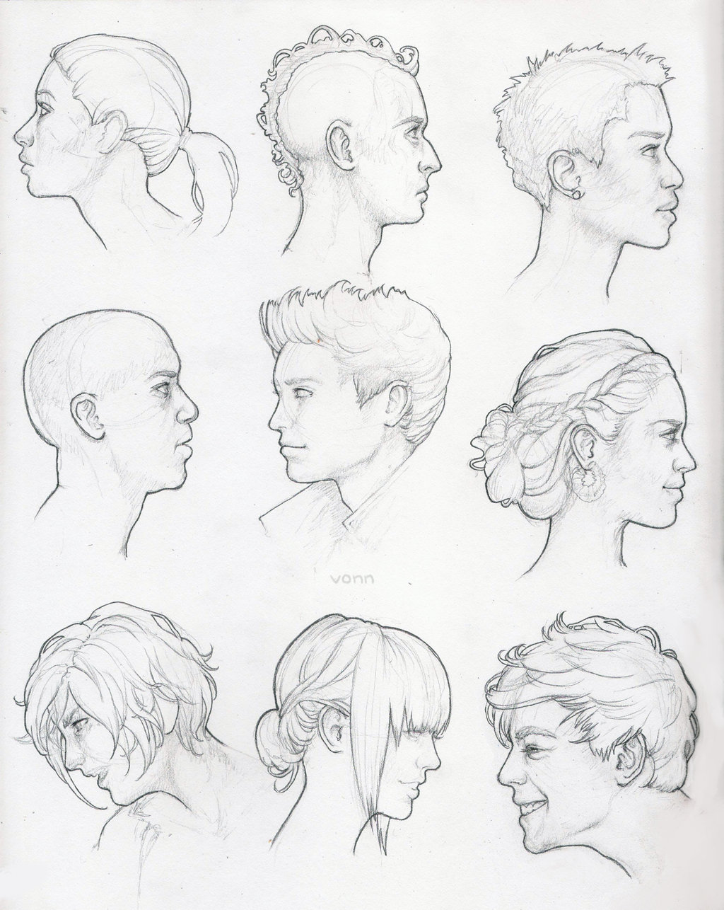 1024x1286 Profile Study Sketches By Tvonn9