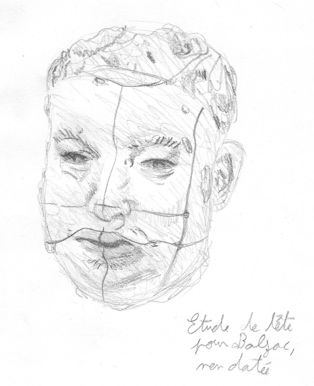 1024x1260 Rodin Sculpture Sketch (Balzac Head Study) By Pixelmitch