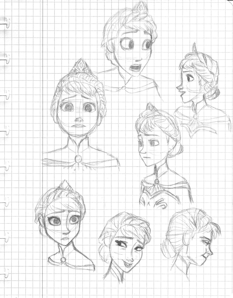 791x1011 Character Studydrawing Practice Elsa By Dkettchen