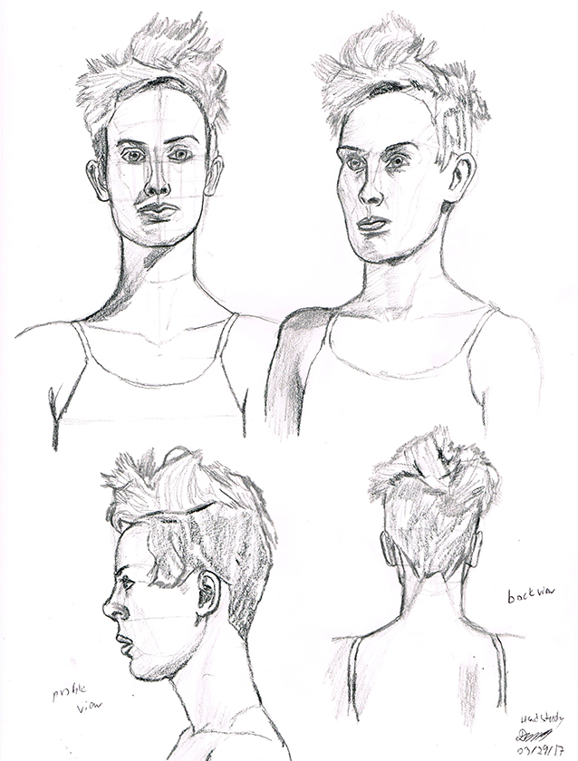 638x840 Draw This Head Poses Study By Dyanbermeo
