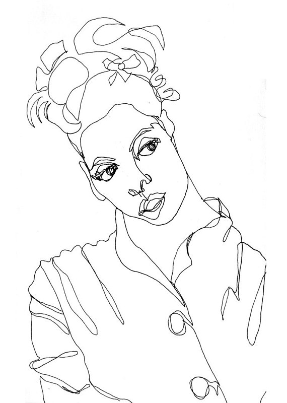 570x800 Items Similar To Art Pen And Ink Drawing Black And White Young