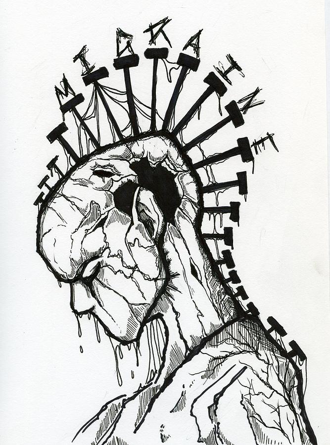 667x900 Migraine Drawing By Kita Liosatos