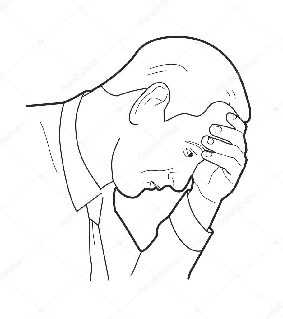 910x1024 Overworked Businessman Is Under Stress With Headache. Worried Man