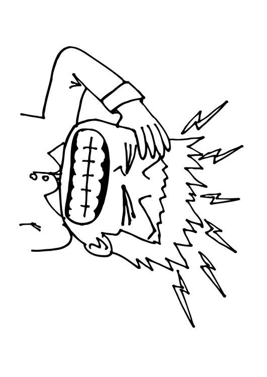 531x750 Coloring Page Headache