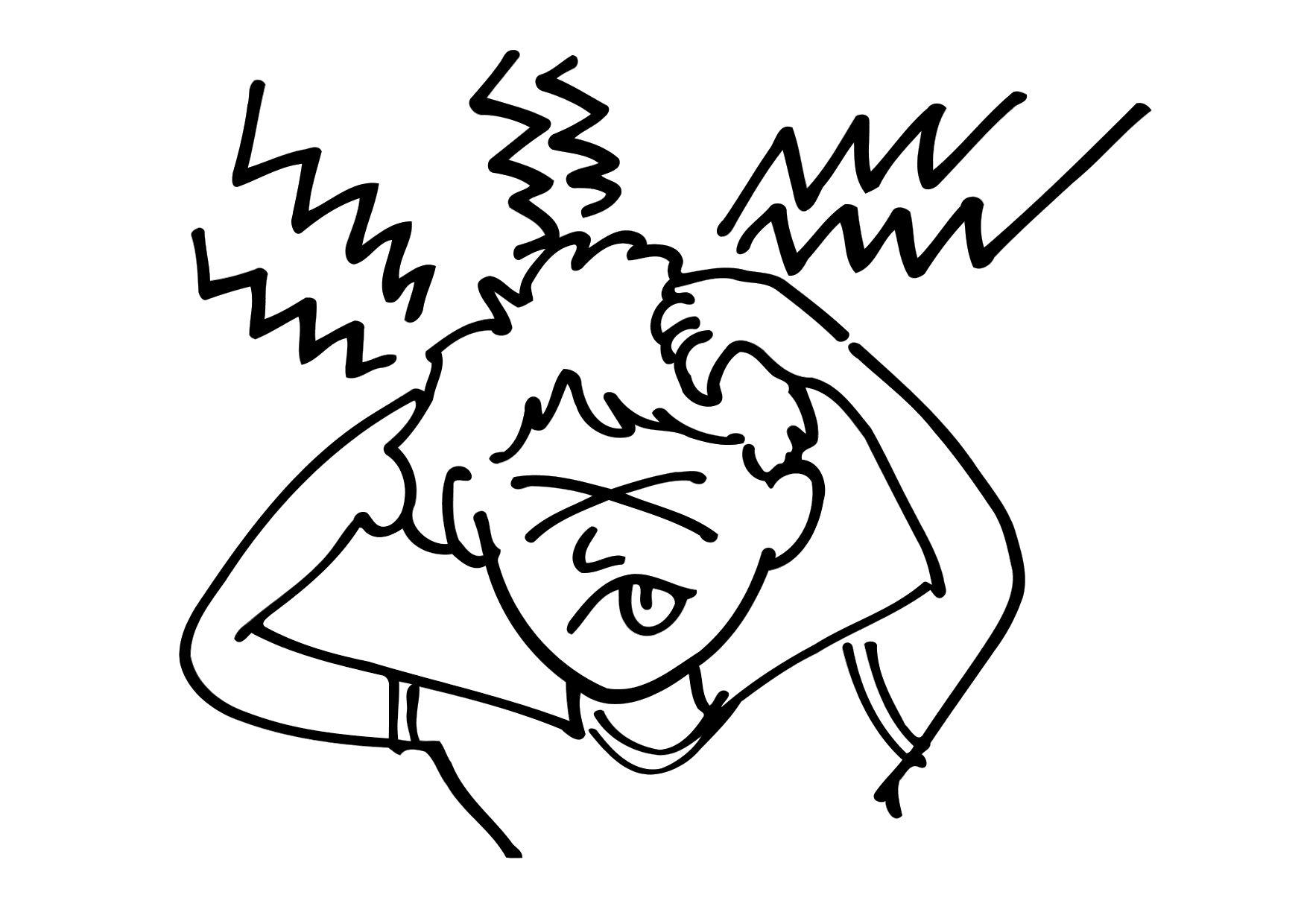 1750x1240 Coloring Page Headache