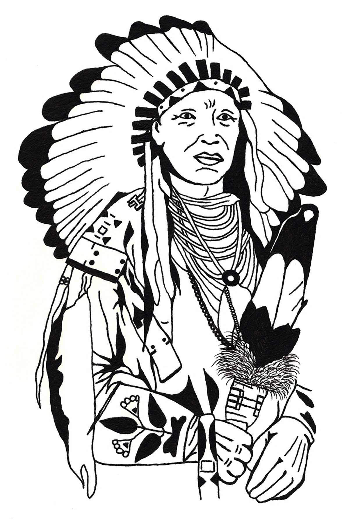 1200x1810 Drawing Native American Native American