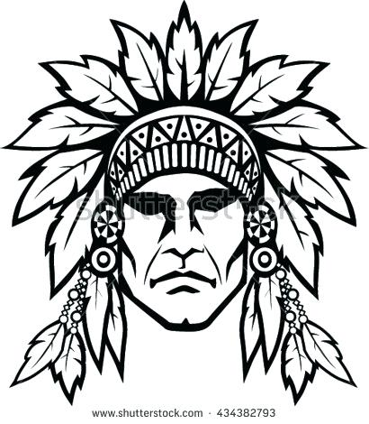 410x470 Native American Drawing Pin Headdress 4 Media