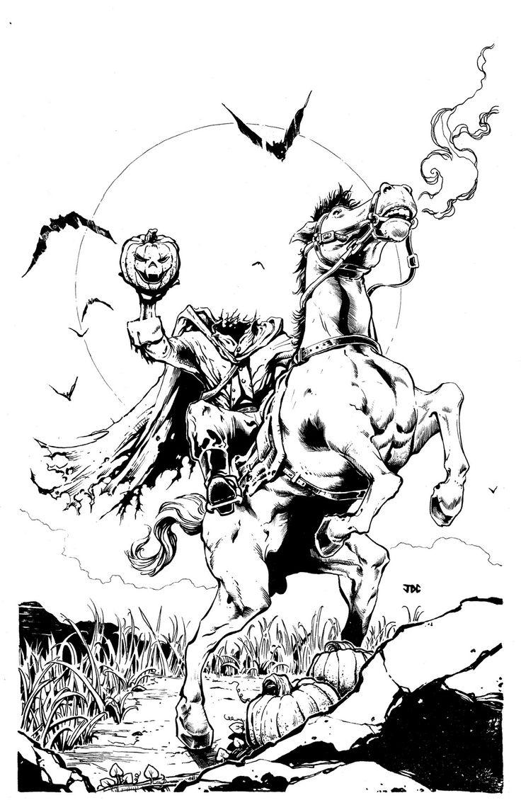 Headless Horseman Drawing