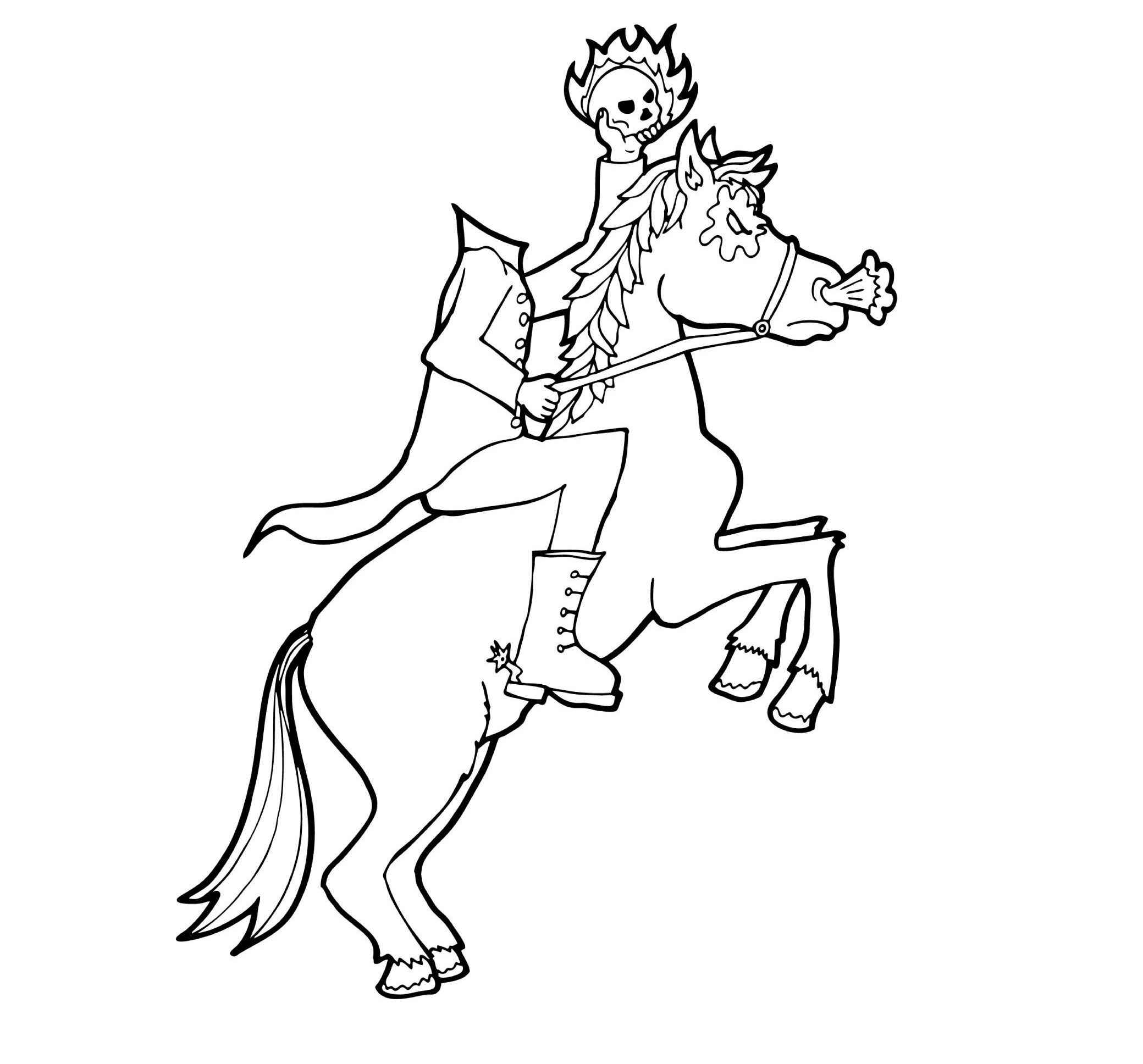 2079x1936 headless horseman coloring book sleepy hollow headless horseman - Headless Horseman Coloring Page