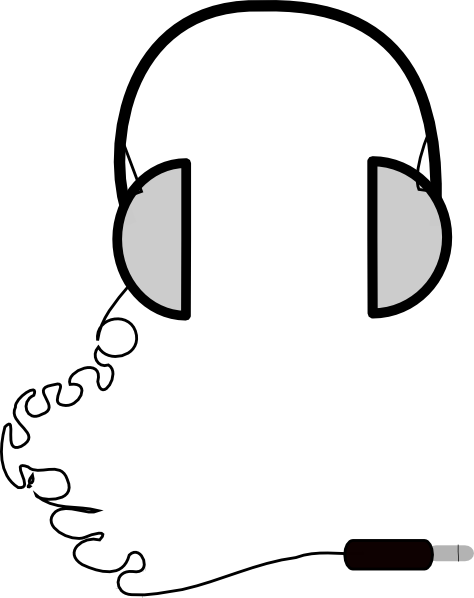 474x598 headphones simple clip art