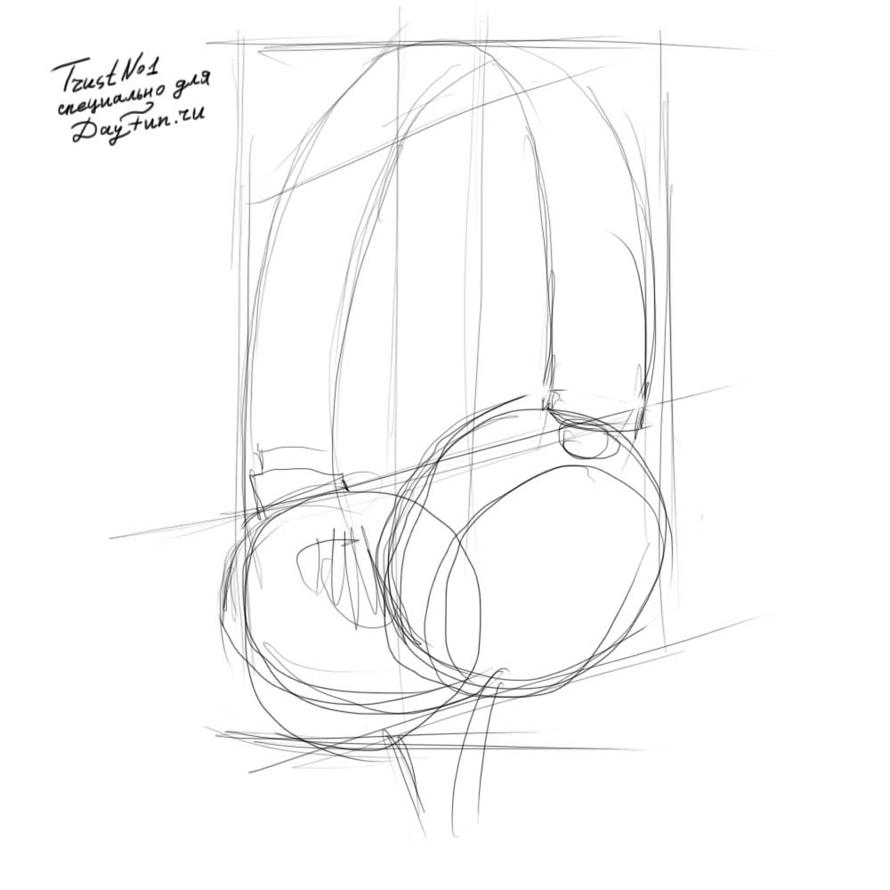 1000x1000 How To Draw Headphones Step By Step