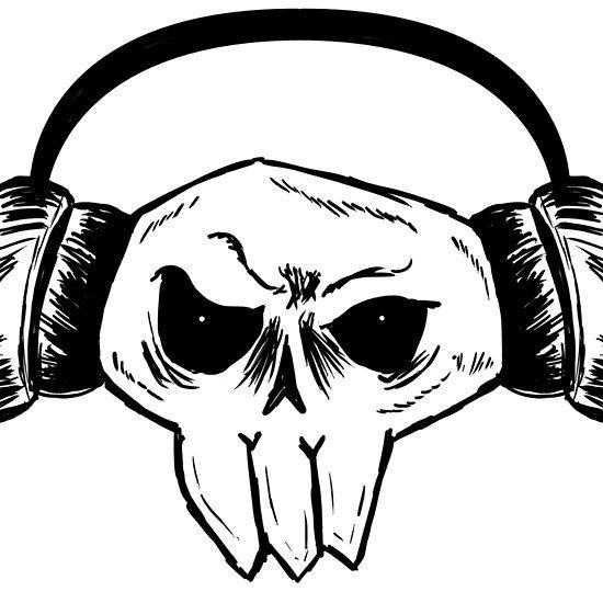 550x550 Skull Headphone My Art On Products To Buy Skull