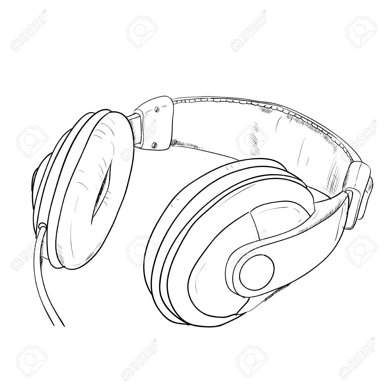 Line Art Headphones : Headphones drawing at getdrawings free for personal