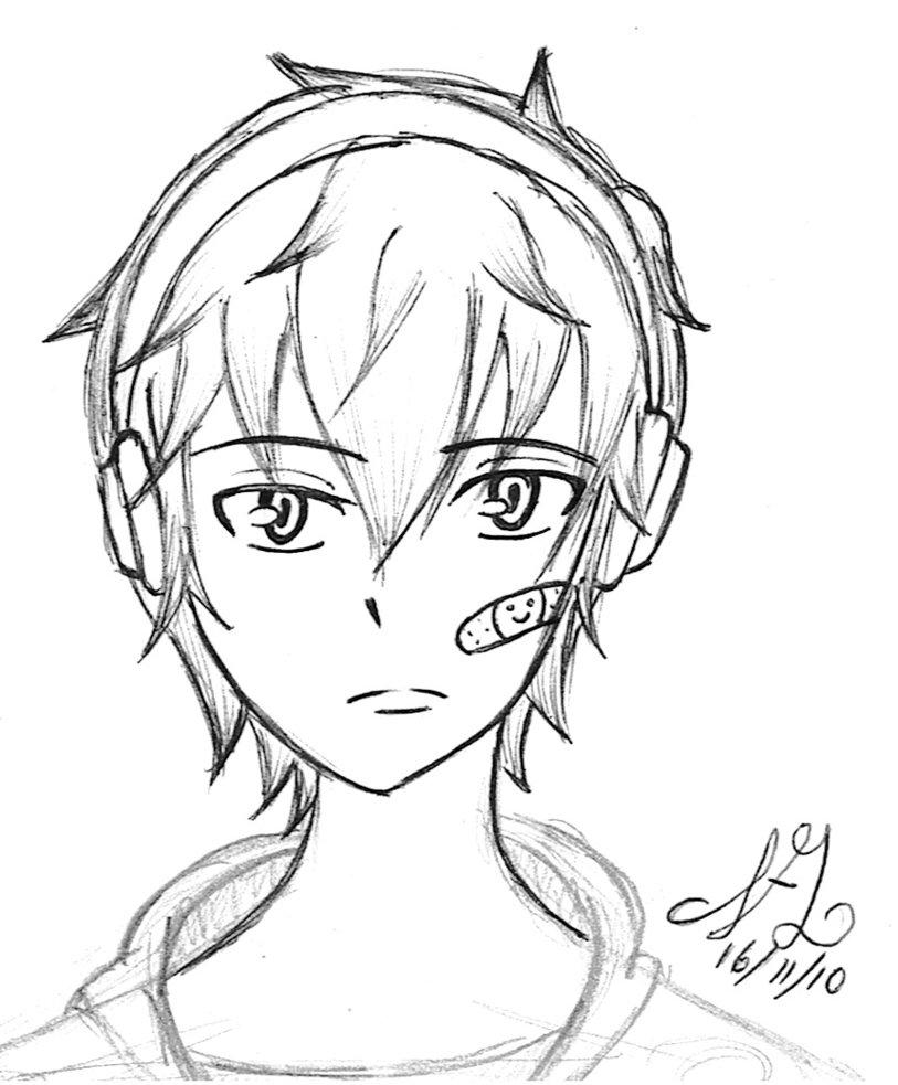 813x983 Boy With Headphones By Akatowari