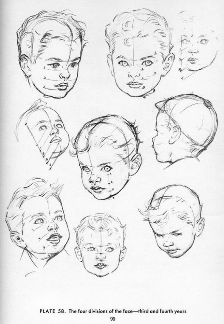 Heads Drawing