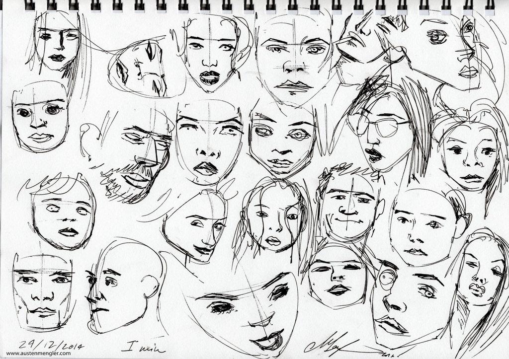 1024x723 Gesture Drawings (Heads)