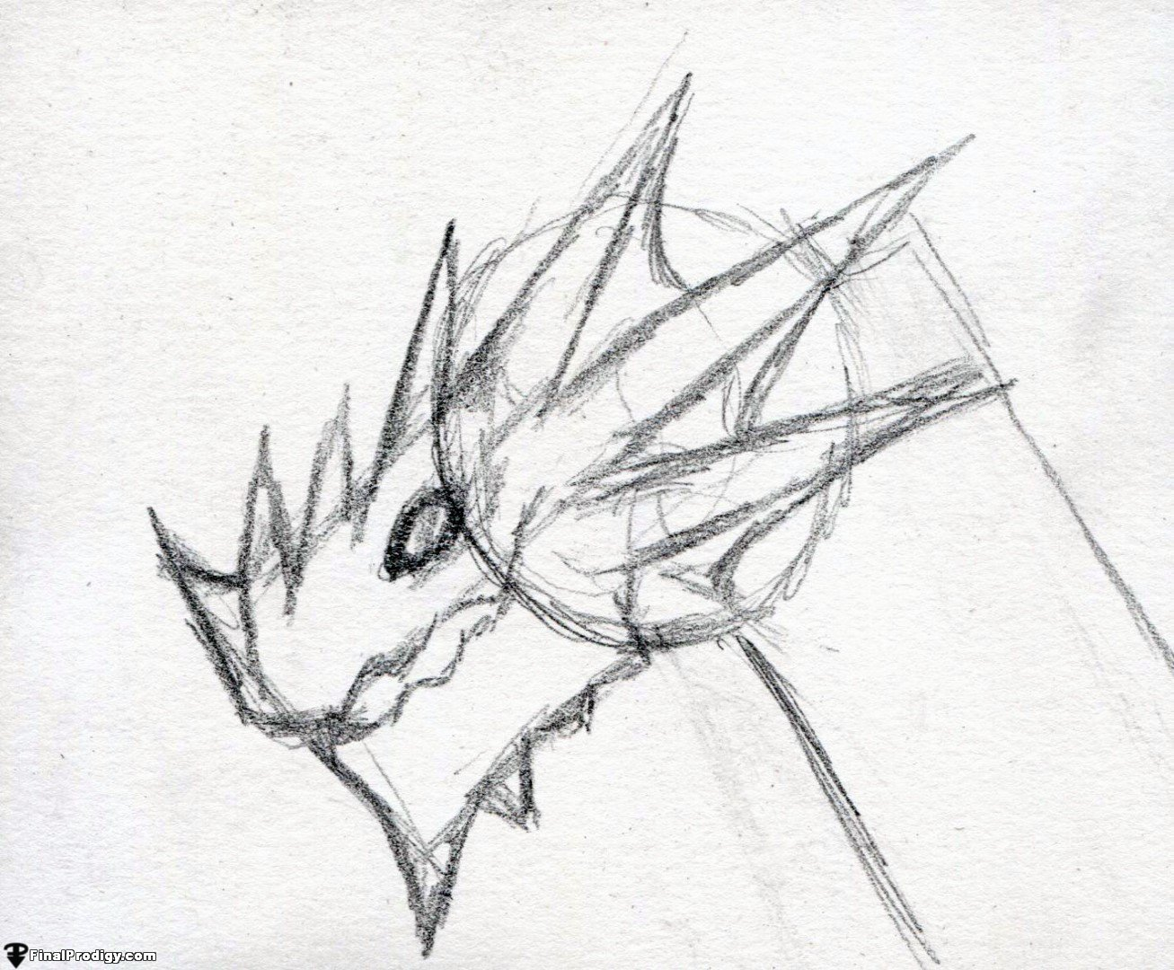 1307x1080 How To Draw A Dragon Head, Side View