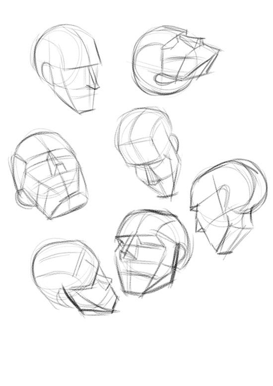 550x778 Life Drawing Dublin Enviro Sketch + Head Studies