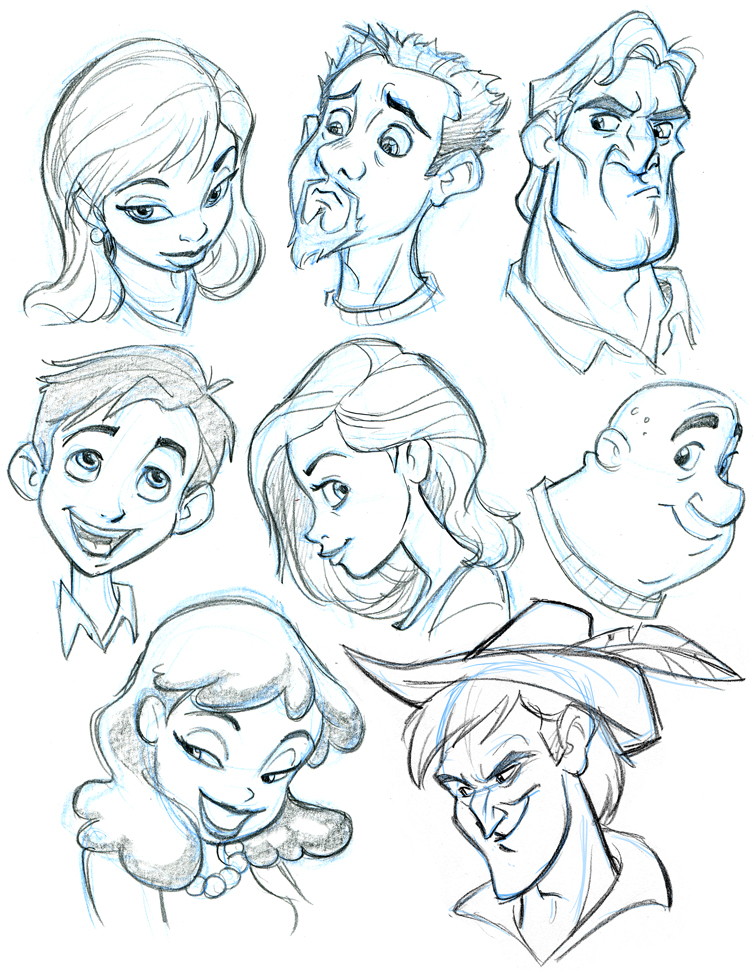 755x971 More Character Heads By Tombancroft