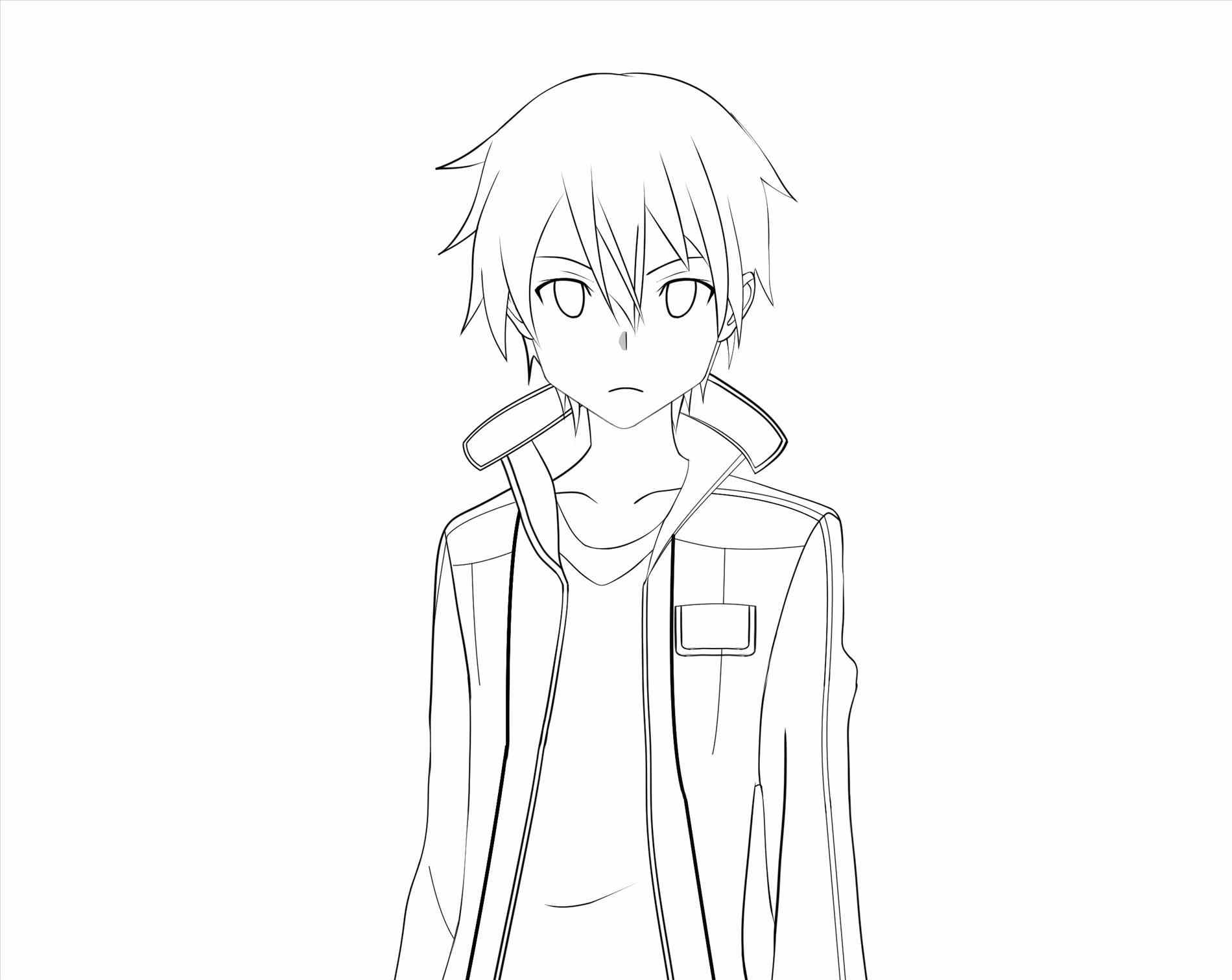1900x1511 People How Anime Character Face Sketches To Draw A Cute Step By