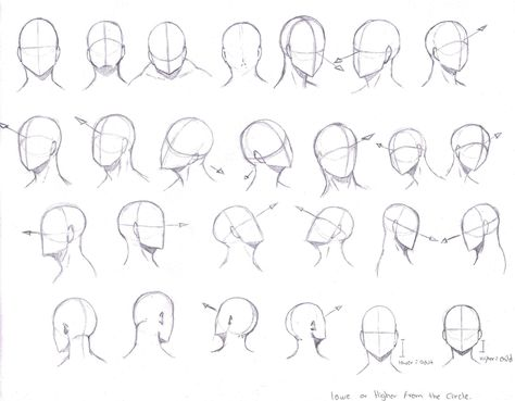 474x369 Drawing Manga Heads From Different Angles