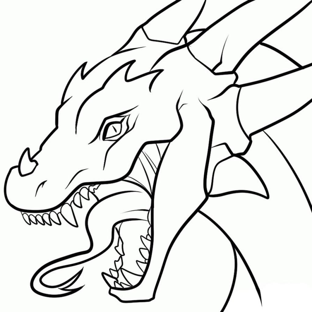 1024x1024 Dragon Head Drawings Dragon Head Drawing Drawings Of Dragons Heads
