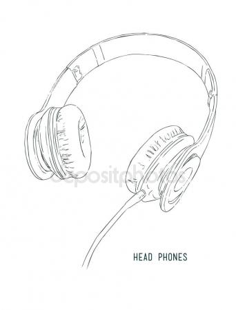 342x450 Sketch Style Vector Headphones Stock Vector Kirpmun@hotmail