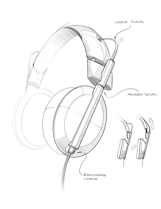 550x711 Drawing Electronics Headphones Sketch Sketches
