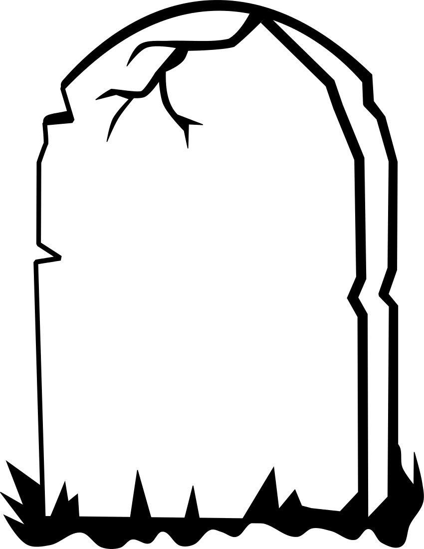 850x1100 Drawn Tombstone Rip