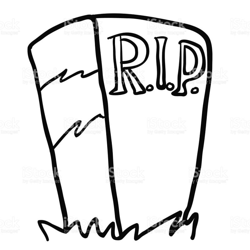 800x800 Tombstone Clipart Black And White