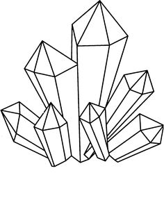 236x285 Cluster Of Crystals Drawing