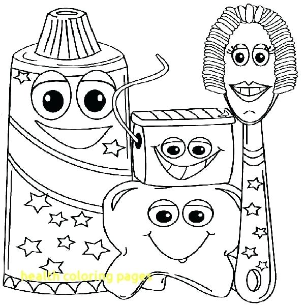 600x600 Healthy Coloring Pages Download Large Image Healthy Body Coloring