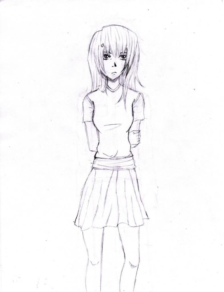 786x1024 Anime Girl Sketch Full Body Anime Girl Drawing Full Body