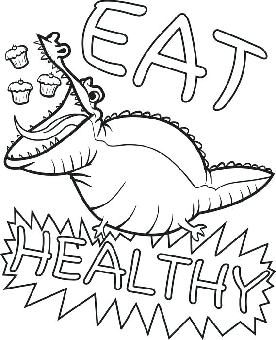 569x700 Healthy Coloring Pages Food Coloring Page Epic Healthy Food