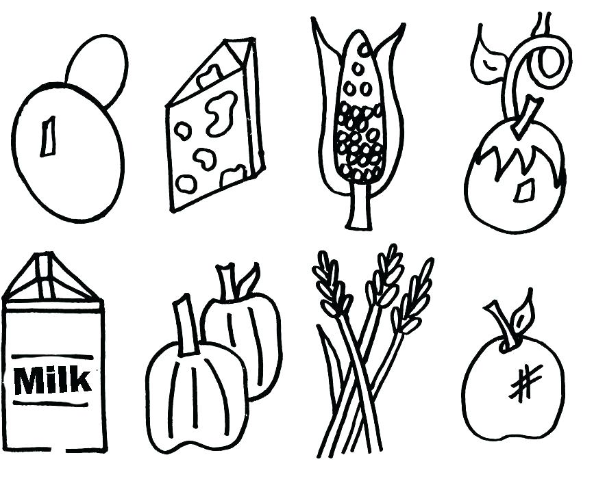867x700 Healthy Food Coloring Page Healthy Eating Coloring Pages