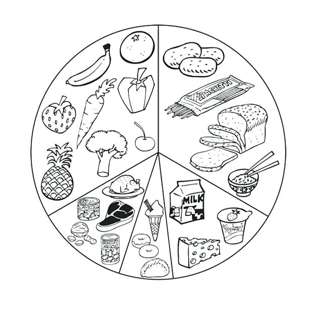 620x621 Healthy Foods Coloring Pages List Healthy Food Coloring Page