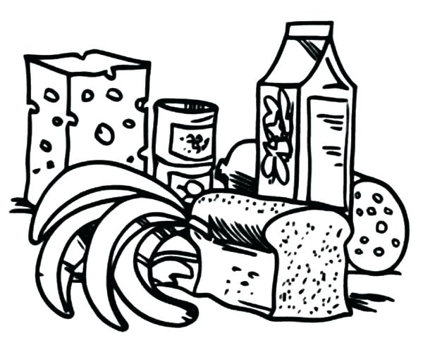600x500 Healthy Foods Coloring Pages Synthesis.site